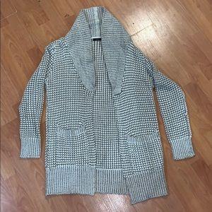 Tan & Cream Stitched Cardigan